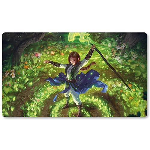 Cultivate - Playmat, MTG Playmat,Magic Gathering Playmats, Board Games Anime playmat,Custom Table Pad, Free Waterproof Bag,Playmats for Yu-Gi-Oh Digimon MTG, Size 60350.2CM
