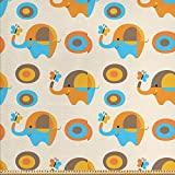 ABAKUHAUS Kinderwand Gewebe als Meterware, Elefant