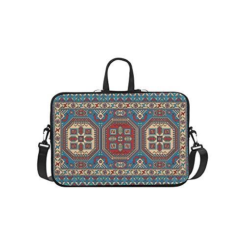Bunte orientalische Mosaik-Kazak-Wolldecke-traditionelle Aktenkoffer-Laptoptasche-Kurier-Schulter-Arbeitstasche Crossbody-Handtasche für das Geschäftsreisen