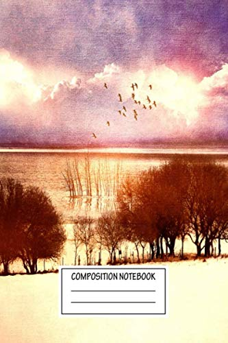 Composition Notebook: Landscapes Melancholic Magical Places Wide Ruled Note Book, Diary, Planner, Journal for Writing