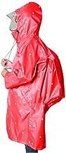 Jiansheng Regenmantel, Doppelmützen für Herren und Damen, Oxford-Tuch, Schultasche wasserdichter Poncho, Blau, Rot, Weinrot XXL (Color : Wine red, Size : XL)