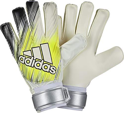 adidas Classic Training - Guantes de portero para entrenamiento, color blanco, amarillo y negro, 7, Blanco-Amarillo-Negro