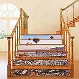GVRPV 3D Pegatinas para escaleras6 unids/Set 3D azulejo de cerámica Escalera Escalera Piso Pegatina Autoadhesivo DIY Escalera Impermeable PVC Pared calcomanía decoración del hogar