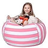 WEKAPO Stuffed Animal Storage Bean Bag Chair Cover for Kids | Stuffable Zipper Beanbag for Organizing Children Plush Toys | 38' Extra Large Premium Cotton Canvas …