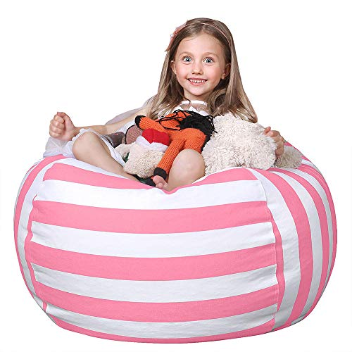 WEKAPO Stuffed Animal Storage Bean Bag Chair Cover ...