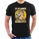 Men's ETTA James Art Black T-Shirt Classic Cool tee Camisetas y Tops(Small)
