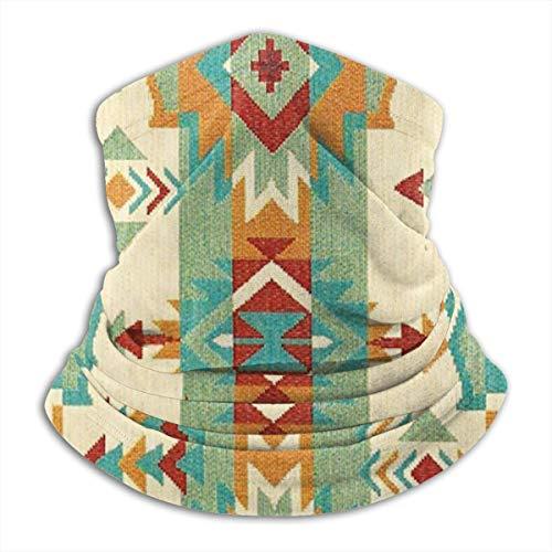 QBahoe Tribal Native American African Ethnic Symbols Unisex Fleece Neck Warmer Windproof Winter Neck Gaiter Cold Weather Face Mask for Men Women