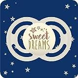MAM Perfect Noche Glow-in-the-Dark Chupete Con Esterilizable viajes Caso 6 Meses (estrellas y lunas) (1 Pack)