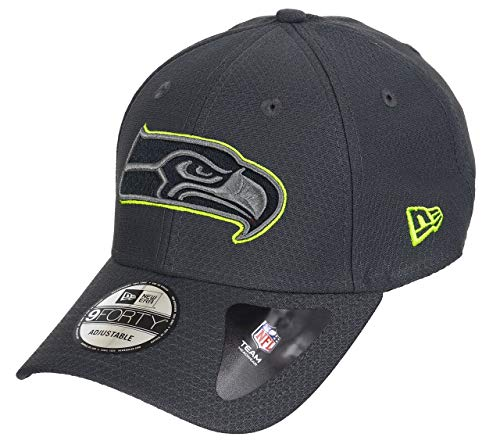New Era Seattle Seahawks 9forty Adjustable Cap NFL Hex Era Graphite - One-Size