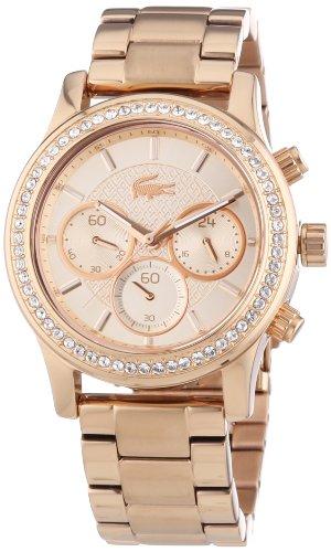 Lacoste Damen-Armbanduhr Charlotte Analog Quarz Edelstahl beschichtet 2000834