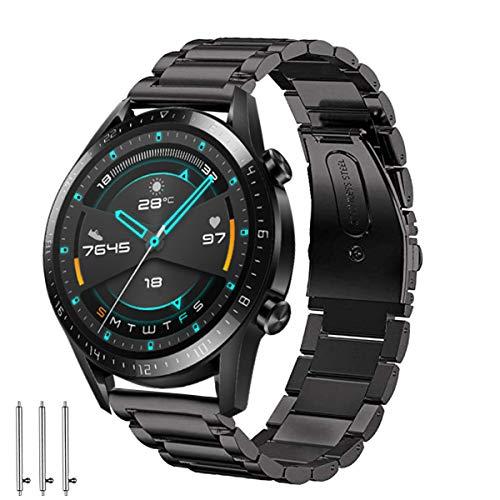 Aimtel Armband Kompatibel mit Huawei Watch GT 2 Armband 46mm/ Huawei Watch 3 Armband, 22mm Edelstahl Metall Ersatzarmband für Huawei GT 2/ GT 2e/Huawei Watch GT/Active/GT 2 Pro/Huawei Watch 3/3 Pro