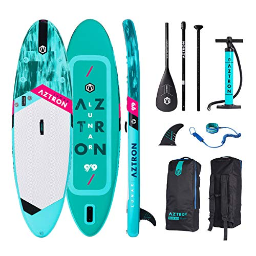 AZTRON Lunar 9.9 Sup Stand up Paddle Board mit Style Alu Paddel und Leash