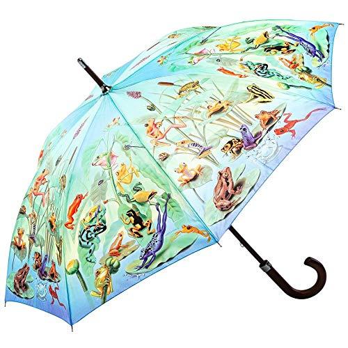 Regenschirm Stockschirm Damen Herren Motiv Frog Family