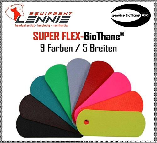 BioThane® Meterware, Beta Super Flex, 9-25 mm breit, ca. 1,5 mm dick, viele Farben, 13mm, Neon-Grün