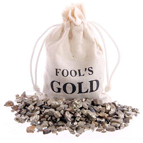 Sacchetto con oro degli stolti con minerale solfurico Pirite