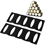 Webake Fridge Organizer Can Organizer for Pantry Organization and Storage, 2 Pack Silicone Beer Bottle Rack for Kitchen Refrigerator Cabinet Countertop, Stackable Soda Can Holder Space Saver (Black)