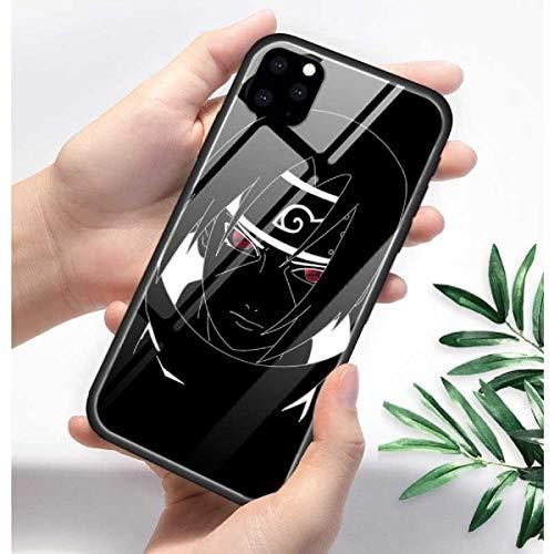 Anime Naruto Hokage Sasuke Kakashi Hüllen für iPhone 11 Pro XR XS Max X 7 8 6 6S Plus 11Pro SE 2020 Hartglas F&as Capa Phone Cover Coque (7, iPhone 11)