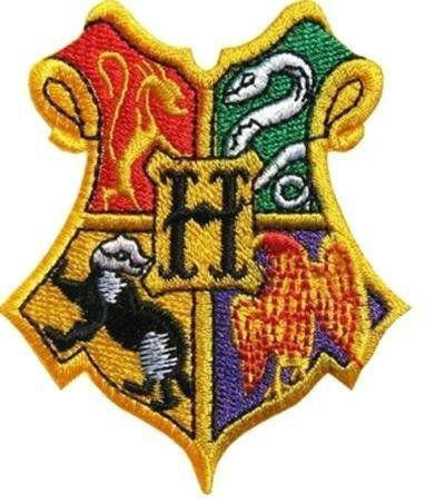 PARCHE BORDADO Harry Potter Patch Hogwarts School Crest totalmente bordado de...