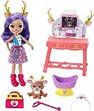 Enchantimals Coffret Le Centre Vétérinaire de mini-poupée Danessa Biche et son ami cerf Sprint, avec accessoires, jouet pour enfant, GBX04