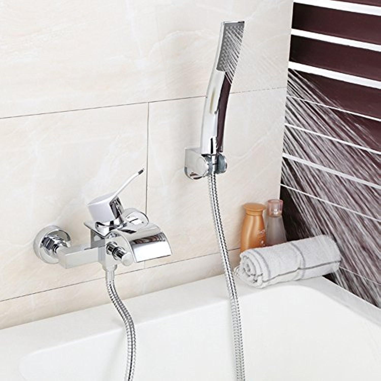 CGGDP Badewanne Moderne Duscharmatur, Bleifreier Hahn aus galvanisierter Bronze, dehnbar, bleifrei und ungiftig.