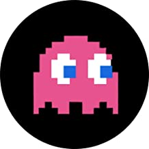 """Pac-Man - Pinky Ghost - 1"""" Round Button"""