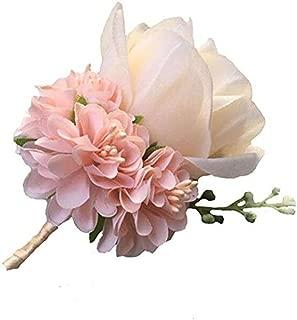WeddingBobDIY Boutonniere Buttonholes Groom Groomsman Best Man Rose Wedding Flowers Accessories Prom Suit Decoration Champagne
