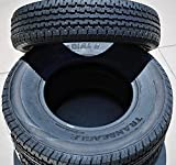 Set of 2 (TWO) Transeagle ST Radial II Premium Trailer Radial Tires-ST225/75R15 225/75/15 225/75-15 117/112L Load Range E LRE 10-Ply BSW Black Side Wall