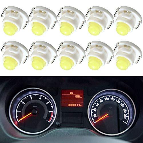 Luces Led T4.7, terminal de cuña, bombillas de salpicadero, luces de temperatura, luces led de control COB-1SMD 12V, apto para Dodge RAM 1500 2500 3500, 2001-2012.