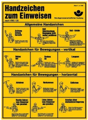 LEMAX® Schild Alu Handzeichen zum Einweisen nach BGV A8 400x290mm