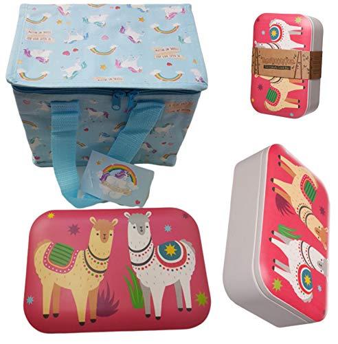 Bundel Thermotasche Kühltasche mit Bambus Motiv Brotdose,Eco-Friendly, BPA und Phthalat frei, Wiederverwendbare Lunchbox Set für Kindergarten Schule Picknick Camping Fisching usw.