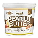 HSN Foods - Mantequilla de Cacahuete con Textura Crujiente - 100% Natural - Peanut Butter Crunchy - Apto Vegetariano - Sin grasa de palma - Sin grasa trans - Sin azúcar ni sal añadidos - 1000g