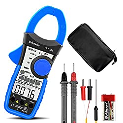 Digital Clamp Meter INFURIDER YF-870N 6000 Counts Auto-ranging DC AC Clamp Multimeter Electrical Meters for Volt,Amp,Resistance,Capacitance,Temp,Continuity with Inrush Current Test