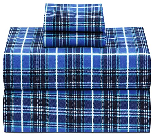 Ruvanti 100% Cotton 4 Piece Flannel Sheets