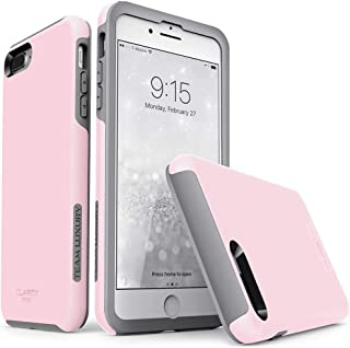TEAM LUXURY iPhone 7 Plus case/iPhone 8 Plus case, [Clarity Series] Pink [G-II] Ultra Defender TPU + PC Shock Absorbent Protective Case - for Apple iPhone 7 Plus & 8 Plus 5.5