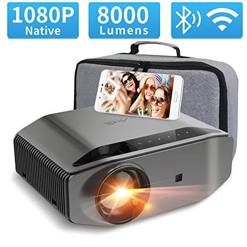 "Beamer Full HD WLAN - Artlii Energon2 Bluetooth Native 1080p LED Beamer WiFi, Unterstützt 4K, 300""Projektor Kompatibel mit TV Stick Xbox Laptop, iOS/Android Smartphone für Filme, Switch Spiele"