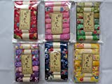 6 Set 42 PC・7 Assort Pre-Cut (8.7 '× 6.5') Print Rayon Crepe Japanese Chirimen kimono Quilt Fabric Patchwork