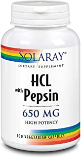 Solaray High Potency Betaine HCL with Pepsin 650 mg | Hydrochloric Acid Formula for Healthy Digestion Support | Lab Verifi...