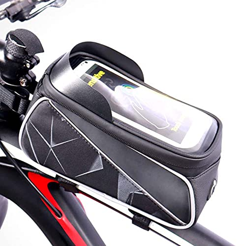 Bike Frame Bag Nocturnal riflettente riflettente riflettente 6,5 pollici telefono touch touch touch bags bici Bike Borse EVA PU impermeabileibile manubrio borsa per il manubrio accessori per ciclismo