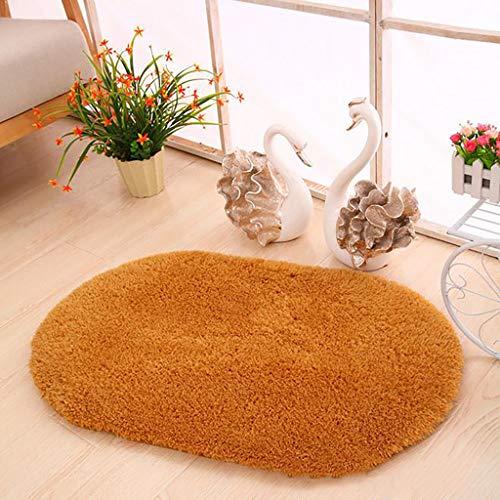 Higlles 50x80CM Verdicken Oval Wohnzimmer Lammkaschmir Teppich Bodenmatte Schlafzimmer Fußmatte Fußpolster Badezimmermatte