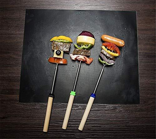 Ogquaton Premium - Alfombrilla para barbacoa con cocina para barbacoa, placa de hierro para barbacoa o equipo de cocina, herramienta de cocina conveniente