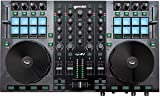Gemini Sound G2V Professional Audio Interface 4-Channel MIDI Mappable Virtual DJ Controller Deck with Touch Sensitive Jog Wheels, XLR outputs, Metal Enclosure