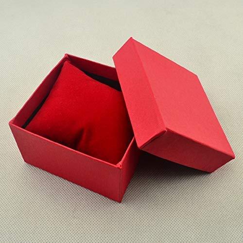 Baifeng Montre Cadeau Bijoux Chaud 3 Couleurs Papier Carton Oreiller Rangement Étui Boîte - Rouge