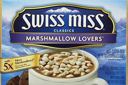 Swiss Miss Marshmallow Lovers, Instant-Kakaogetränk & Extra Marshmallows, 1er Pack (1 x 272 g)
