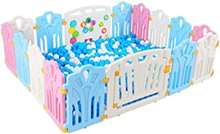 Baby Playpen Baby Playpen  Kids Plastic Panels Activity Center Play Area Portable Playards Fence Home Indoor Outdoor Play Panel HDPE Material Baby Playards  Color Style1  Size 16panel