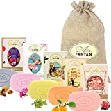 Beauty Set: 5er Seife Pack Un Air d'Antan/Bio Arganöl, Sheabutter/In einer hübschen Jutetasche /5...