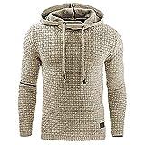 Mr.BaoLong&Miss.GO Automne Nouveau Pull Jacquard pour Hommes T-Shirt à Manches Longues à Capuche Sweat à Capuche Veste S-4xl
