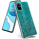 Miceta Phone Case for OnePlus-8T-Cute,Bumper-Shockproof-Protective-for-Girls&Women-Compatible-with-OnePlus8T-2020,Flower Clear Designer Ultra Slim Soft-TPU Pretty Phone Cover-Cases-29