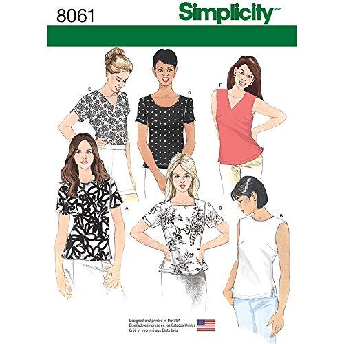 Simplicity 8061 Women's Shirt Assortment Sewing Patterns, Sizes 8-16