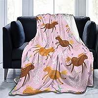 EODNSOFN 超ソフトソファブランケット格子コラージュ漫画寝具フランネル格子毛布寝室装飾毛布 (Color : E, Size : 100x120cm)