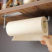 zunto portarotolo cucina sottopensile, autoadesivo porta carta da cucina portarotoli per cucina e bagno, senza forature